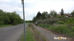 Black Leggings Peeing Jogger screen cap #19