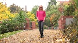 Blonde on Leaves screen cap #4