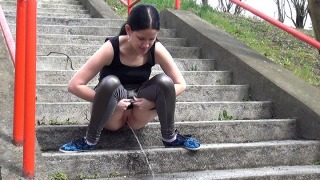 Pee Video Concrete Steps