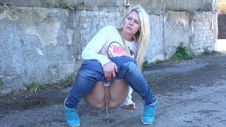 Pee Video Denim and Trainers