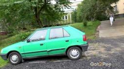 Green Car screen cap #2