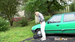Green Car screen cap #4
