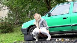 Green Car screen cap #6