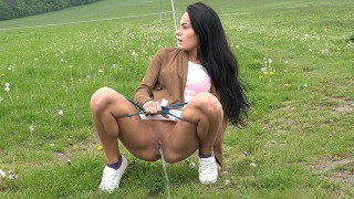 Pee Video Lexi on Grass