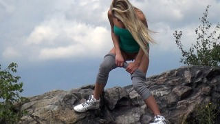 Pee Video On The Peak