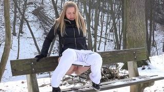 Pee Video Onto a Bench
