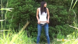 Rebecca on Grass screen cap #26