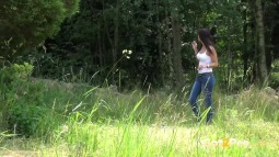 Rebecca on Grass screen cap #6