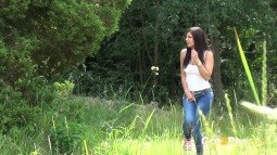 Rebecca on Grass screen cap #9