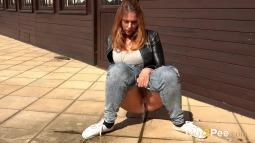 Squatting in Jeans screen cap #9