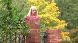 Blonde on Leaves screen cap #2