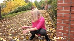 Blonde on Leaves screen cap #21