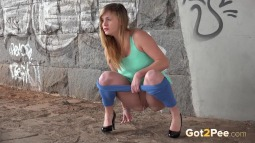 Blue Leggings Waterfall screen cap #11