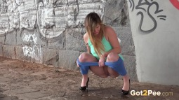 Blue Leggings Waterfall screen cap #17