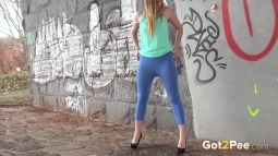 Blue Leggings Waterfall screen cap #19