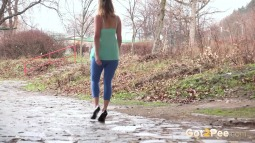 Blue Leggings Waterfall screen cap #21