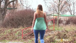 Blue Leggings Waterfall screen cap #22