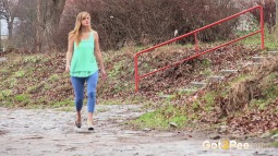 Blue Leggings Waterfall screen cap #4