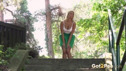 Bright Green Panties screen cap #4
