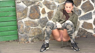 Pee Video Camo Leggings