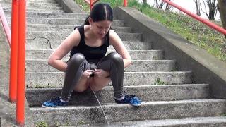 Pee Video Concrete Steps