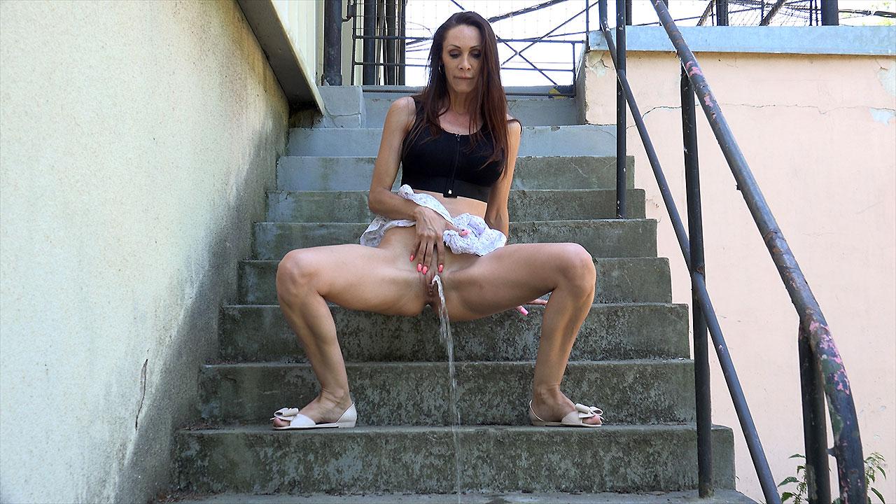 Cynthia On The Steps