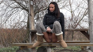 Pee Video Eveline In Public