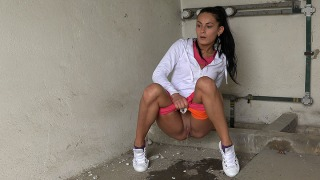 Pee Video Little Orange Shorts