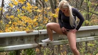 Pee Video On The Railing