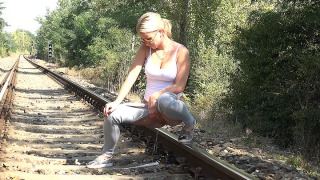 Pee Video Pissing on the Railway