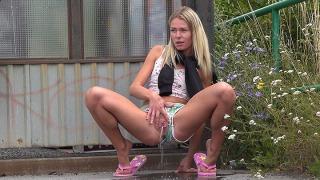 Pee Video Public Bus Stop