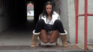 Pee Video Public Pissing for Eveline