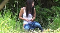Rebecca on Grass screen cap #23