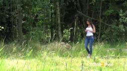 Rebecca on Grass screen cap #5