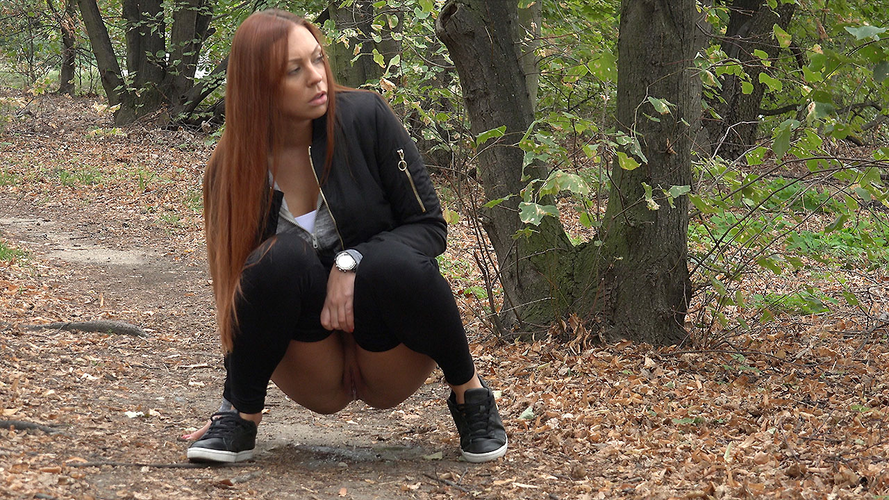 Redhead In The Woods