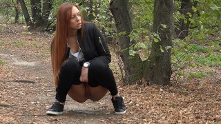 Pee Video Redhead In The Woods