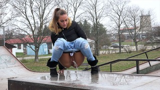 Pee Video Skater Girl