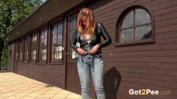 Squatting in Jeans screen cap #14
