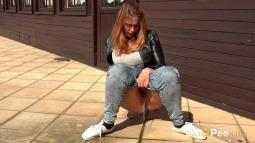 Squatting in Jeans screen cap #8