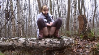 Pee Video Steamy Woodland Pee