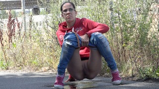 Pee Video Sweatshirt and Sneakers