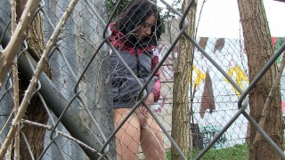 Pee Video Through The Fence
