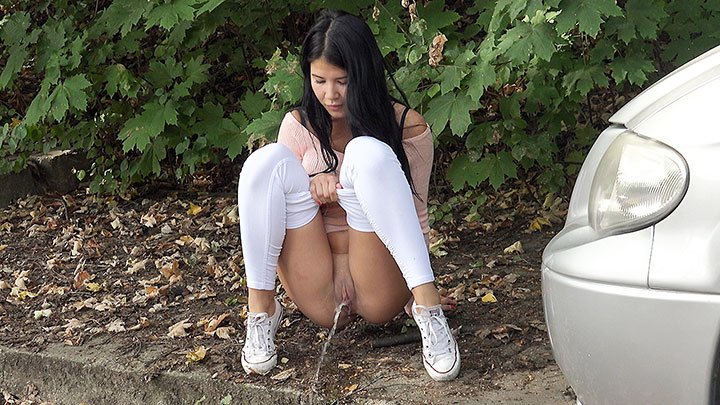 Porn Video Tight White Leggings