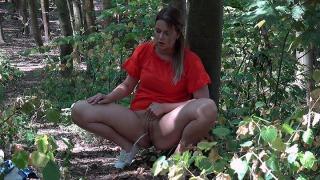 Pee Video Walking in the Woods