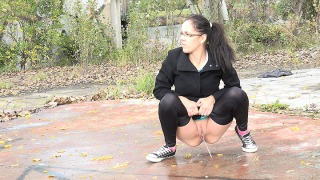 Pee Video Windy Piss Puddle